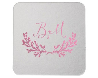 Custom Paper Coaster, Custom Drink Coaster, Paper Bar Coaster, Custom, Foil Coaster, Party Coaster, Wedding Favors, Coaster wedding 249