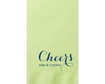 Personalized Guest Towels Bathroom Restroom Hand Towels Dinner Napkins Wedding Paper Hostess Gift Monogram customize your colors 198