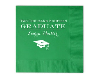 Graduation Napkins, 2019 Graduation, College Grad, Congrats Grad, Personalized Napkins, Cocktail Napkins, Beverage Napkins, lunch napkin 226