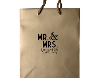 Custom Hotel Wedding Welcome Bags for Out of Town Guests, Custom Printed Gift Bags, Destination Weddings, Personalized Bags, wedding tote 30