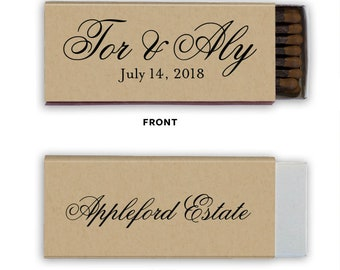 Perfect MatchSparks Flew Custom Wedding Matches, Personalized Sparkler Matches, Custom Matchbook Wedding Favors, Custom Printed Matches 155