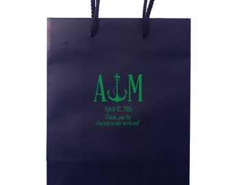 Welcome Bag, Wedding Welcome Box, Custom Gift Bag, Welcome Bag, Hotel Welcome Bag, Favor Bag, Gift Tote, Printed Gift Bag, Nautical 17