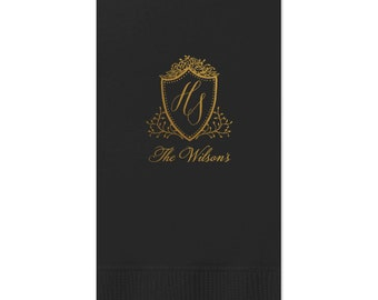Monogram Guest Towels, Wedding Napkin, Party Napkins, Dinner Napkin, Monogram Napkin, Hand Towel, Bathroom Towel, Cocktail Napkins 286