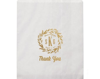 Personalized Printed Goodie Bags, Custom Printed Favor Bags, Personalized Candy Bar Bag, Personalized Favor Bags, Gold Printed Favor Bag 297