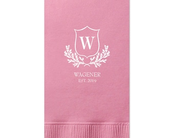 Guest Towels, Monogram, Wedding Napkin, Custom Napkin with name, Personalized Napkin for  Birthdays, Parties, Wedding, Business 287