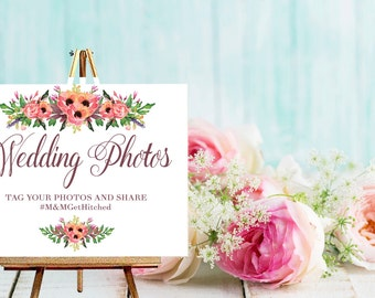 Instagram Hashtag Sign / Wedding Hashtag Sign / /  Wedding Sign  /