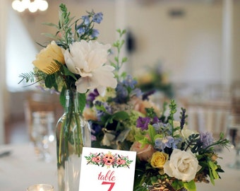 Instant Download Table Numbers / Wedding Table Numbers  //  Wedding Sign / Instant Download