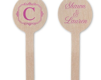 Custom Drink Stir for Wedding Cocktails, Monogram Drink Stirrers, Wedding Swizzle Sticks, Cocktail Stirrers, Bridal Shower, Drink Stir 280