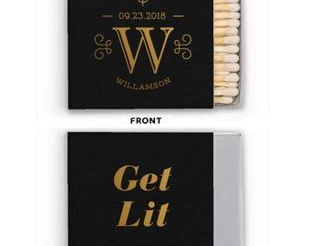 Wedding Matches, Cigar Bar Matches, Monogram Matchbox, Wedding Matchboxes, Custom Matches, Foil Matchboxes, Sparkler Matches, matchbox 298