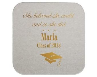 Coasters - Graduation Party, Personalized Coasters, Grad Coasters, Class of 2019, name coaster, Congrats Grad, Graduation Party, 229