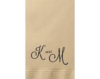 Wedding Napkins, Guest Towels, Monogram Guest Towels, Party Napkins, Custom Monogram, Monogram Napkin, Paper Napkin, Cocktail Napkins 304