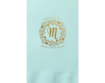 Guest Towels, Monogram, Wedding Napkin, Custom Napkin with name, Personalized Napkin for  Birthdays, Parties, Wedding, Business 294
