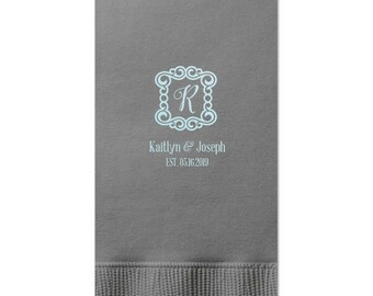 Personalized Guest Towels, Wedding Napkins, Anniversary Napkins, Party Supplies, Personalized Gift for Friends & Family, Bathroom Towels 283