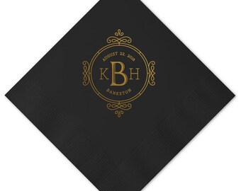 Wedding Napkins, Guest Towels, Monogram Guest Towels, Party Napkins, Custom Monogram, Monogram Napkin, Paper Napkin, Cocktail Napkins 300
