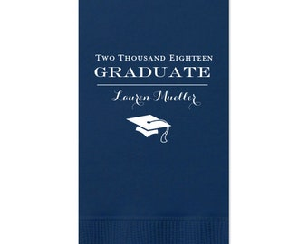 Graduation Napkins, Custom with name-message-colors, class of 2019, Graduation Party, lunch napkin, Dinner Napkins, Guest Towel, 226