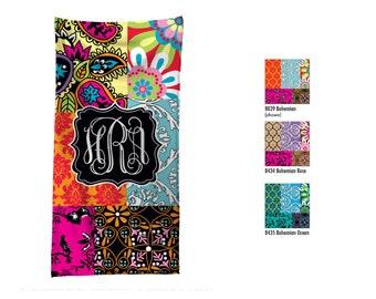Monogramed Beach Towel / Custom Pool Towel / Personalized Beach Towel // Custom Monogram Hostess Gift / Bohemian