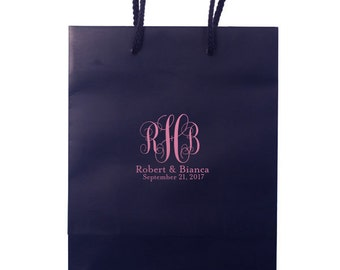 Monogrammed Wedding Hotel Bags, Personalized Gift Bags, Out of Town Guest Bags, Favor Bags, Destination Wedding, Personalized Bag, tote 29