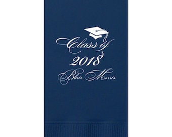 2019 Graduation Napkins, Guest Towels for Graduation, dinner Napkins, Class of 2019, Graduation Party, Congrats Grad, Party Napkins, 220