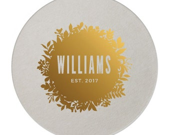 Custom Paper Coaster, Custom Drink Coaster, Paper Bar Coaster, Custom, Foil Coaster, Party Coaster, Wedding Favors, Coaster wedding 230