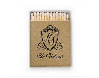 Custom Wedding Matches with Names, Personalized Wedding Favors, Custom Printed Matchboxes, Personalized Wedding Match, Monogram Matches 286