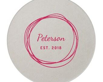 Custom Coasters, Wedding Coasters, Rose Gold Foil, Personalized Coasters, Party Coasters, Wedding Favor, Bridal Shower, Party Favor 270