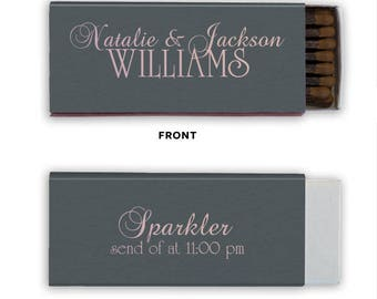 Personalized Sparkler Send off Wedding Matches, Custom Wedding Matchboxes, Personalized Wedding Favor, Sparkler Matches, Bar Matches 69