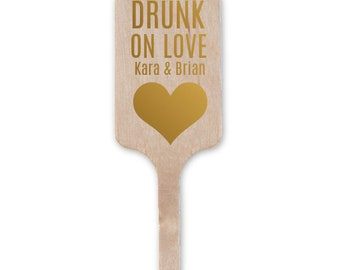 Personalized Wedding Cocktail Stirrers, Drink Stirrers, Stir Stick, Wedding Decor, Custom Wedding Favors, Bridal Shower Decor, Favor 8