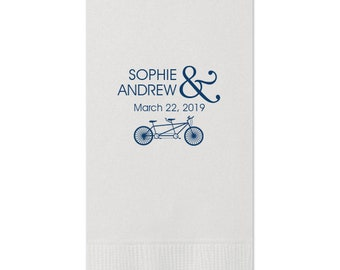Personalized Guest Towels, Wedding Napkins, Anniversary Napkins, Party Supplies, Personalized Gift for Friends & Family, Bathroom Towels 25