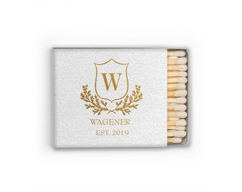 Personalized Wedding Matches, Custom Wedding Matchboxes, Personalized Wedding Favors, Sparkler Send Off Matches, wedding monogram,  287