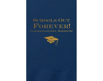 Graduation Napkins, Custom with name-message-colors, class of 2019, Graduation Party, lunch napkin, Dinner Napkins, Guest Towel, 227