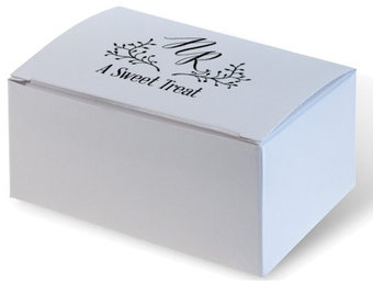 Personalized Event Favor / Cake Box for wedding cake, candy & treats Custom Personalize Candy Bar Wedding Favor Birthday Favor 285