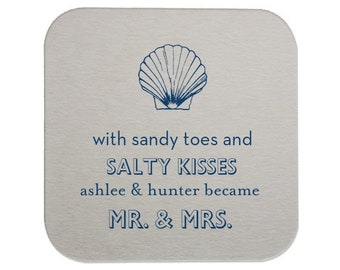 Wedding Coaster, Personalized Coasters, Rustic Wedding, Party Coaster, Custom Coaster, Drink Coaster, Bar Coaster, Wedding Favors, Beach 6