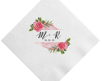 Full Color Bridal Shower Napkins, Monogrammed Napkins, Full Color Cocktail Napkins, Personalized Napkins, Wedding Napkins, 3-Ply Napkins 333