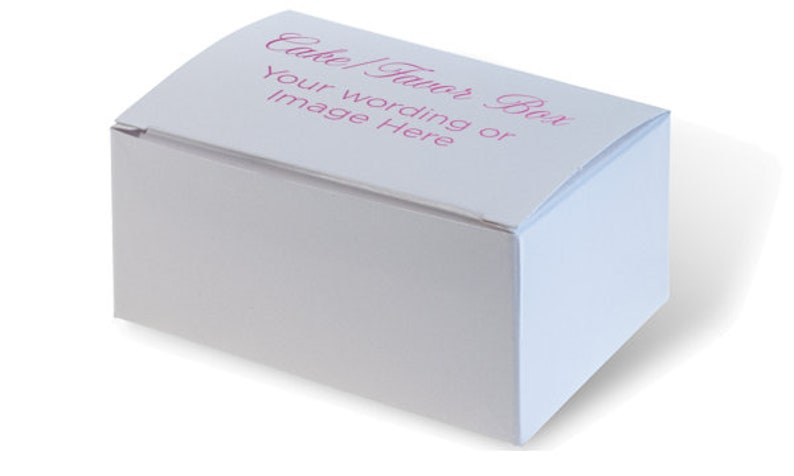 Cake Boxes / Wedding Favor Boxes Personalized Custom Cake image 0