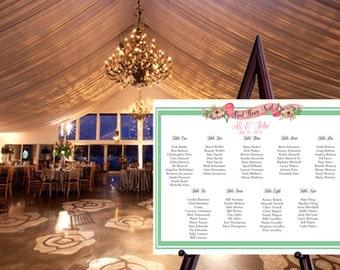 Printable Custom Seating Chart / Wedding Seating Chart / Vintage Wedding / Wedding Sign /