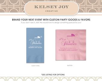 Baby Shower Napkins, Personalized Shower Napkins, Custom Baby Shower Cocktail Napkins, Gender Reveal Party, Party Napkin, Event Napkin 100