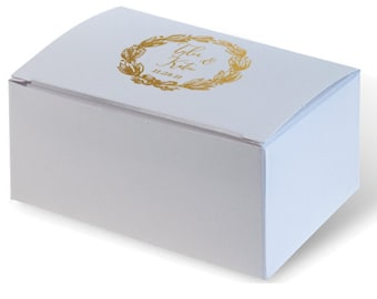 Wedding Favor Truffle Box, Custom Favor Box, Candy Box, Personalized Box, Jordan Almond Box, Shower Favors, Personalized Monogram 291
