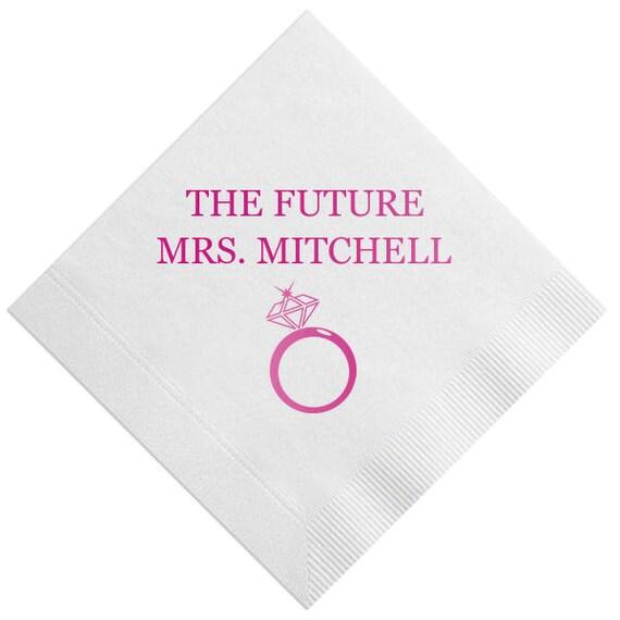 bridal shower napkins custom bridal shower napkins drink