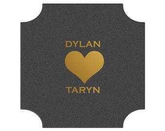 Custom Coaster, Wedding Coaster, Rustic Wedding, Floral Favors, Personalized Coaster, Bar Coaster, Custom Wedding Favors, heart Coaster 108