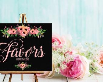 Instant Download Chalkboard Wedding Favor Sign / Chalkboard Wedding / Wedding Favor Table / Candy Buffet // Instant Download