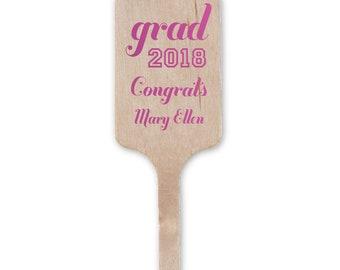 Custom Cocktail Stir Sticks, Grad, Graduation Stir Sticks, Personalized Swizzle Sticks, Graduation Party Decor, Class of 2019 Stirs 222