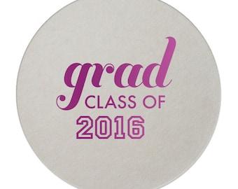 Class of 2019 Graduation Drink Coasters / Personalized Graduation Coasters / Custom Party Coasters  Cocktails / Graduation Invitation