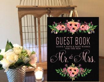 Instant Download Chalkboard Wedding Guest Book Sign / Chalkboard Wedding / Guest Book / Chalkboard Sign / Instant Download / Vintage Wedding