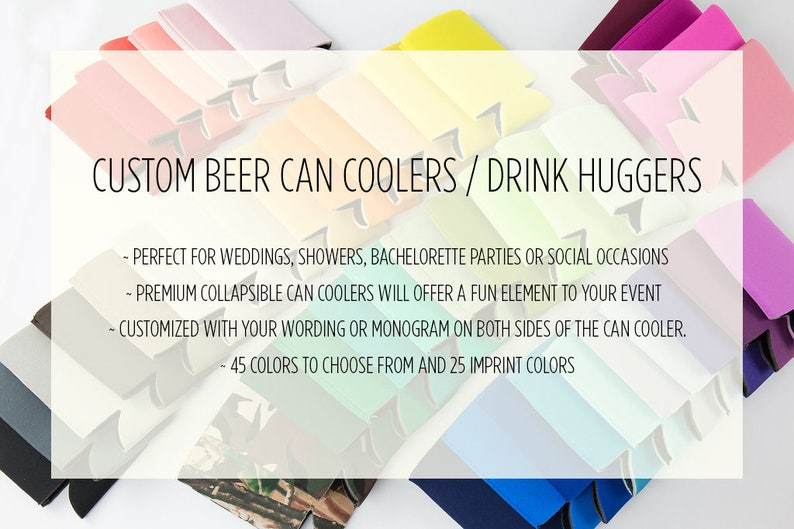 Personalized Can Coolers Drink Hugger Custom Can Cooler image 0