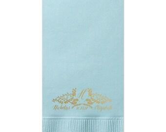 Monogram Guest Towels, Cheers Wedding Napkin, Party Napkins, Dinner Napkin, Monogram Napkin, Hand Towel, Paper Napkin, Cocktail Napkins 243
