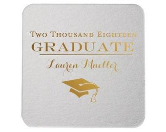 Coasters - Graduation Party, Personalized Coasters, Grad Coasters, Class of 2019, name coaster, Congrats Grad, Graduation Party, 226