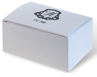 Personalized Wedding Cake Slice Boxes, Favor Box, Candy Box, Truffle, Birthday Favor, Custom Printed, Wedding Favor, Personalized 282