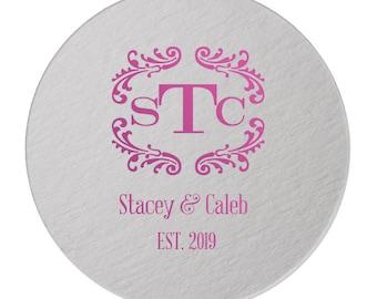 Custom Coaster, Wedding Coaster, Rustic Wedding, Floral Favors, Personalized Coaster, Bar Coaster, Custom Wedding Favors, Coaster  293