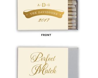 Personalized Wedding Matches, Custom Wedding Matchboxes, Personalized Wedding Favor, Sparkler Send Off Matches, wedding monogram, match  264