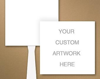 Custom Square Wedding Program Fan / Personalized Fan Program /  Wedding Fan / Wedding Sign Wedding Stationery Day of Stationery